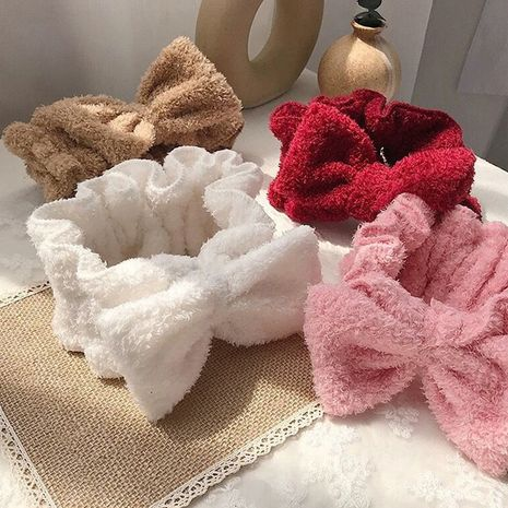 Korea's new sweet bow-knot wide-brimmed face wash headband NHDQ266741's discount tags