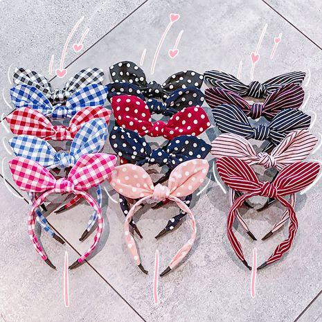 Korean  bow rabbit  headband  NHNA266745's discount tags