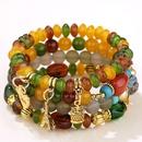 fashion trend simple versatile metal multipendant pendant candy beads multilayer bracelet NHSC266769