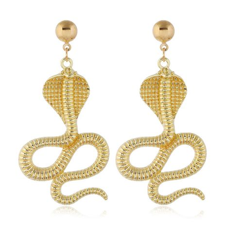 New fashion auspicious snake exaggerated earrings for women hot-selling NHSC266761's discount tags