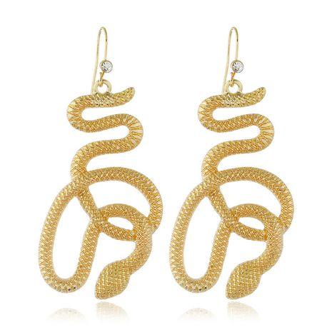 Moda nueva serpiente auspiciosa exagerada pendientes de mujer venta al por mayor de gran venta NHSC266760's discount tags