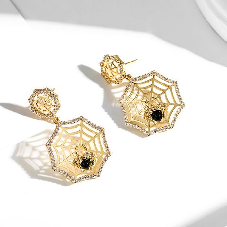 black spider fashion creative 925 silver needle exaggerated earrings NHPP266688's discount tags