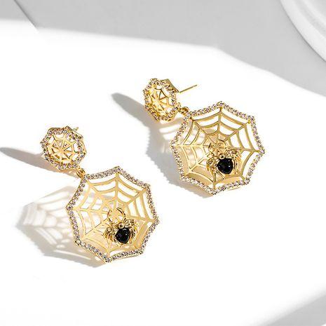 Boucles oreilles exagérées à aiguille en argent 925 créative de mode araignée noire NHPP266688's discount tags
