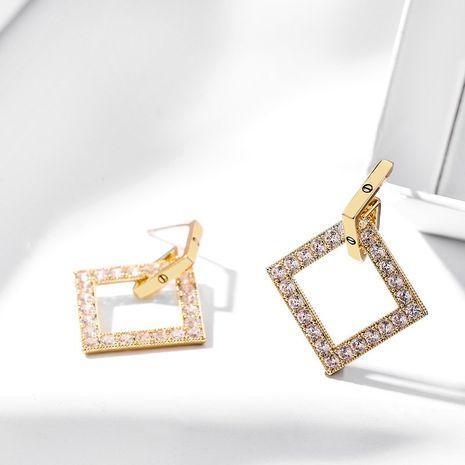 Boucles oreilles exagérées élégantes simples et longues en diamant géométrique à aiguille en argent 925 NHPP266643's discount tags