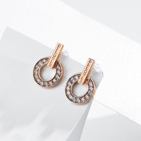 Geometric circle pendant fashion shining elegant 925 silver needle earrings NHPP266636's discount tags
