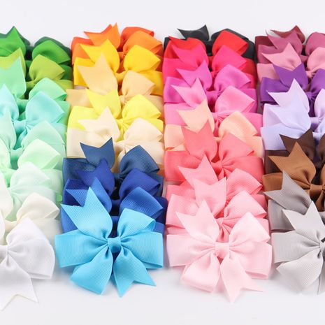 solid color ribbed ribbon bow hairpin  NHDM266727's discount tags