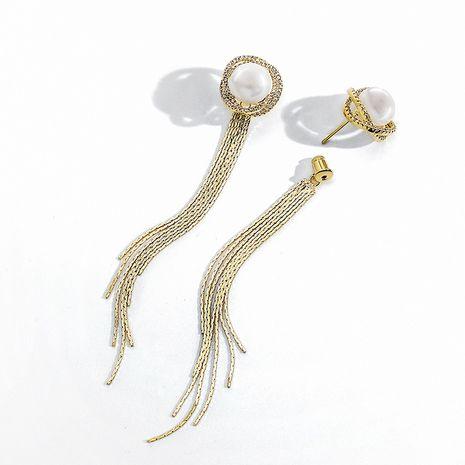 Boucles d'oreilles à pampilles longues et douces à l'aiguille en argent 925 NHPP266649's discount tags