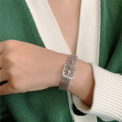fashion belt buckle metal jewelry all-match bracelet NHYQ266801's discount tags