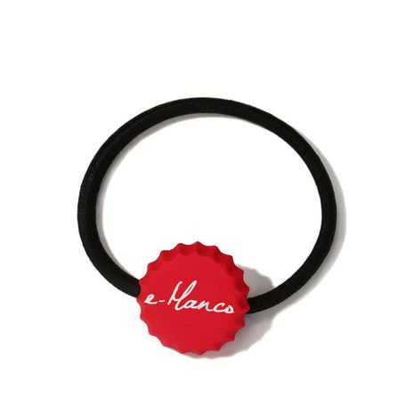 Korea new cute bottle cap hair ring dripping alloy letter hair rope wholesale NHTF266827's discount tags