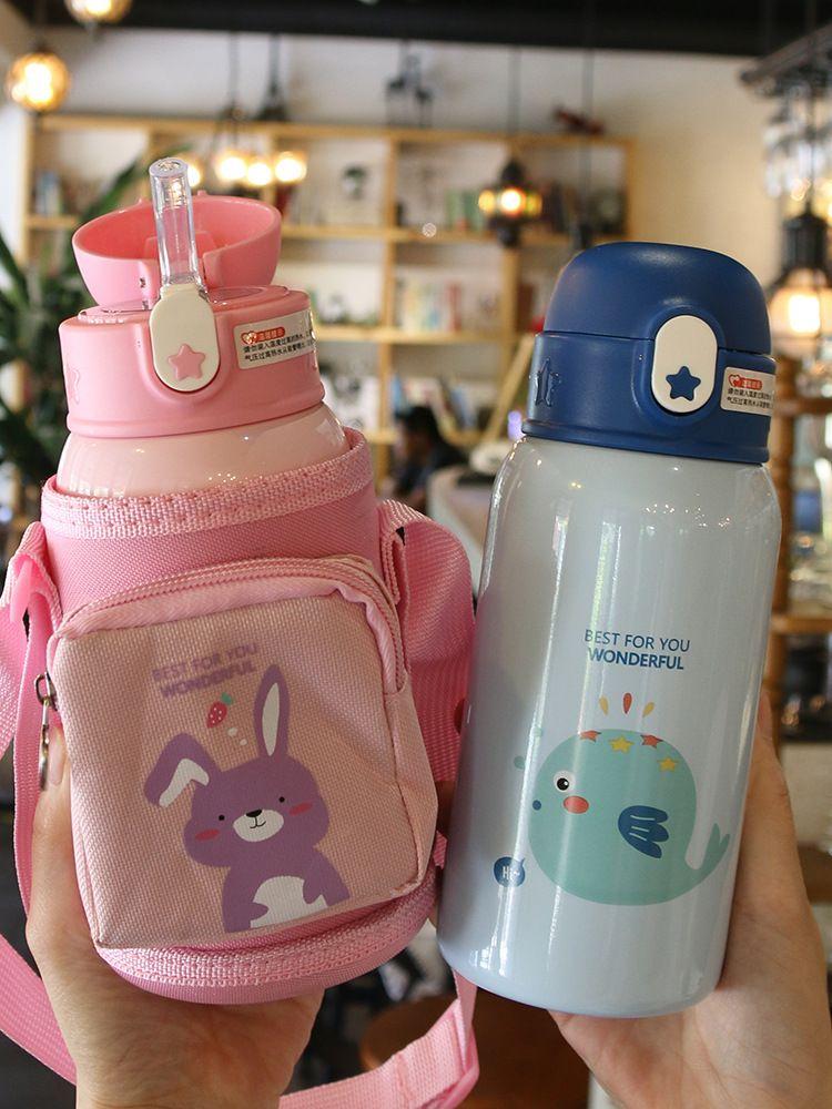 316 stainless steel cute kindergarten pupils drop-resistant children's vacuum flask  NHtn266862