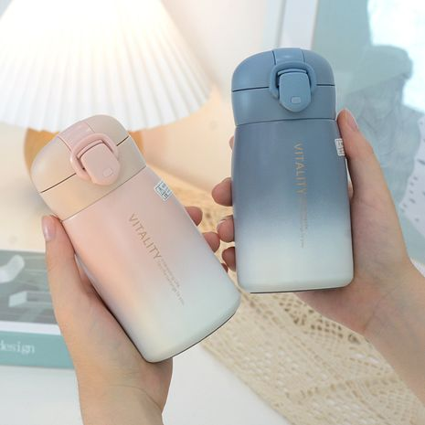 Fashionable small and cute gradient cover with lock insulation student portable bag women's water cup NHtn266865's discount tags