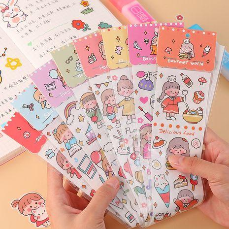 Fashion cartoon hand account cute girl heart DIY decorative stationery sticker NHHE266905's discount tags