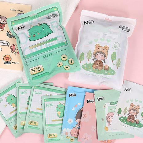 10 packs of cartoon self-heating warm palace stickers joint hot waist abdomen stickers  NHHE266907's discount tags