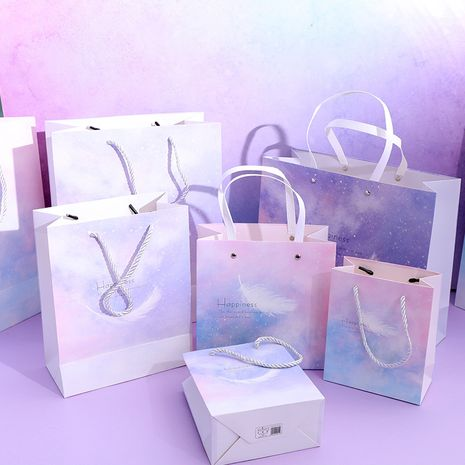 Fashion new simple star high-end size birthday paper tote bag thickened gift  NHHE266911's discount tags