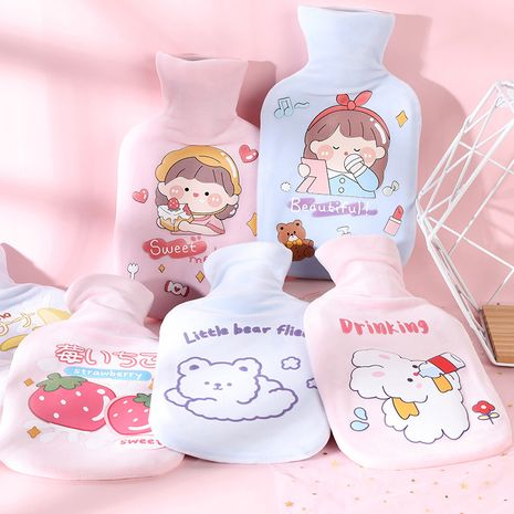 Plush  injection student cartoon hand warmer cute mini hot water bottle NHHE266913's discount tags