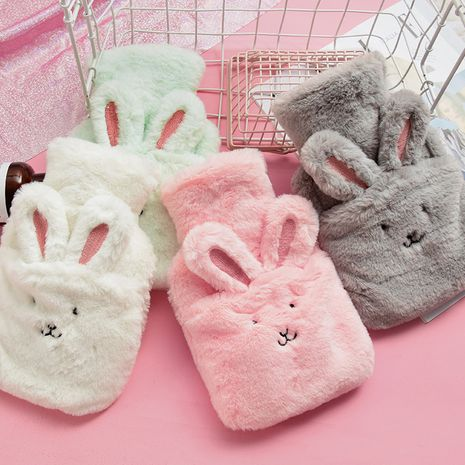 Large plush water injection student children warm baby cute cartoon portable hot compress plush warm water bag NHHE266914's discount tags