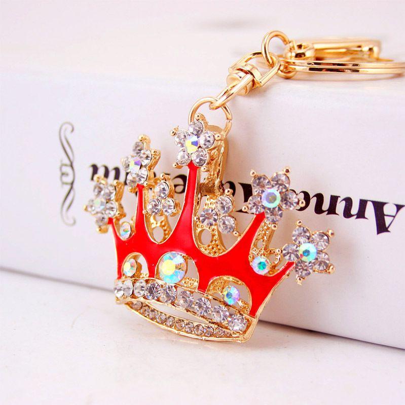 Creative Diamond Crown Crystal Car Keychain  NHAK266953