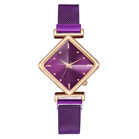 Reloj de mujer de alto valor de moda con imán de dial de diamantes reloj de cuarzo con correa de malla casual simple NHSY266970's discount tags