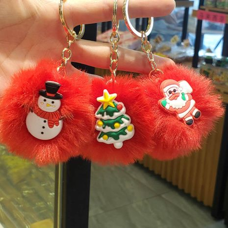 Christmas decoration creative hair ball pendant keychain NHDI267012's discount tags