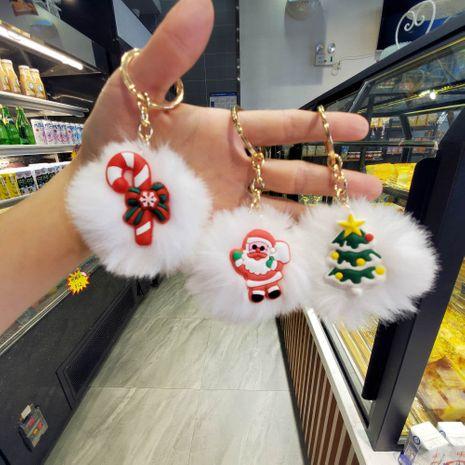 kreative dreidimensionale Weihnachtspelz Ball Tasche Anhänger Schlüsselbund NHDI267014's discount tags