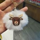 creative threedimensional Christmas fur ball bag pendant keychain NHDI267014