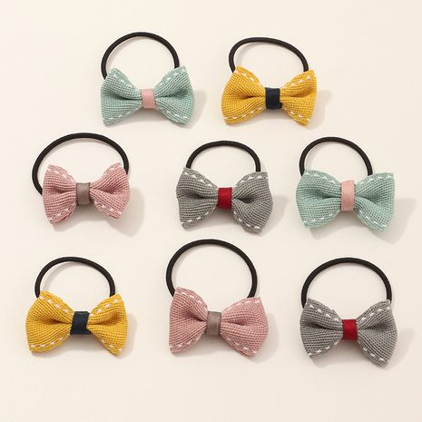 children's woolen yarn bowknot hair rope set NHNU267021's discount tags