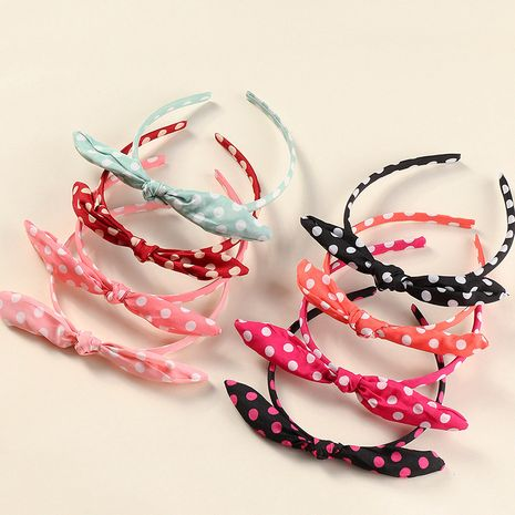Koreanische Bowknot Polka Dot Kinder Haarband Set NHNU267022's discount tags