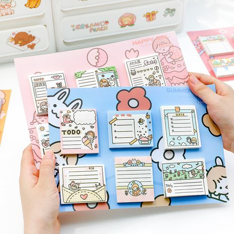 Cute Post-it Notes Student Cartoon Plan Punch Card Can Tear Memo Pad Memo NHZE267031's discount tags
