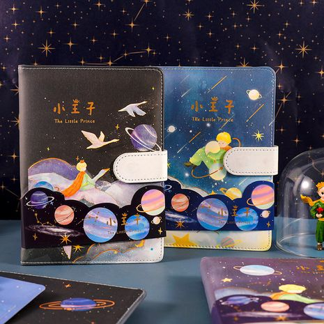 cute starry sky color page grid diary notebook NHZE267032's discount tags