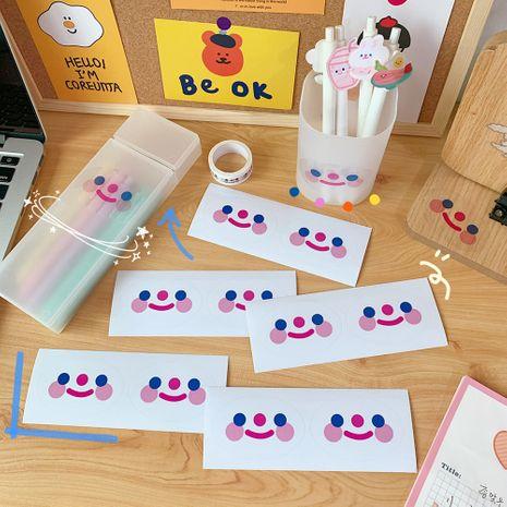 Korea cute cloud smiley face cartoon simple student sealing girls heart notebook sticker NHZE267035's discount tags