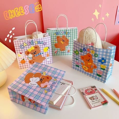 cartoon super cute bear gift wrapping paper bag  NHZE267036's discount tags