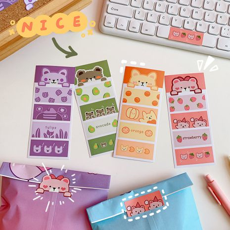 cartoon cute gummy bear label sealing girls hand account sticker material small pattern NHZE267037's discount tags