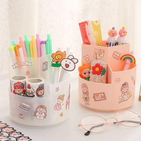 Creative fashion cute pen holder Korean student desktop large capacity storage box NHZE267042's discount tags