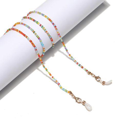 Mode handgemachte Kette gemischte Farbe Reis Perlen Gläser Seil e Brille Kette NHBC267047's discount tags