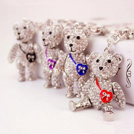 sac à bandoulière créatif de mode ours porte-clés mignon NHAK267057's discount tags