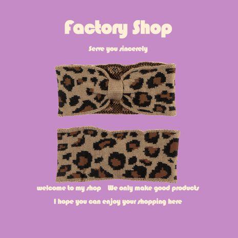 Arc léopard rétro mode élastique sauvage chaud en plein air tricoté bandeau tendance coréenne pour les femmes NHTQ267108's discount tags