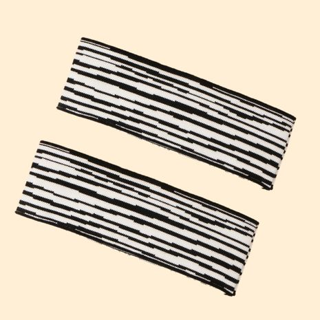 Korean fashion all-match zebra pattern knitted hair with elasticity retro fashion adult hairband  NHTQ267118's discount tags
