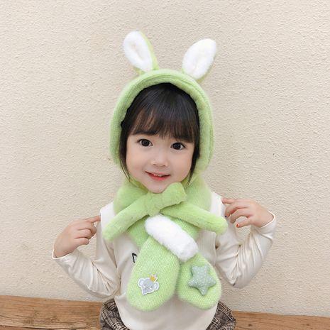 Korean cute bunny scarf windproof earmuffs treasure fashion wild scarf NHTQ267145's discount tags
