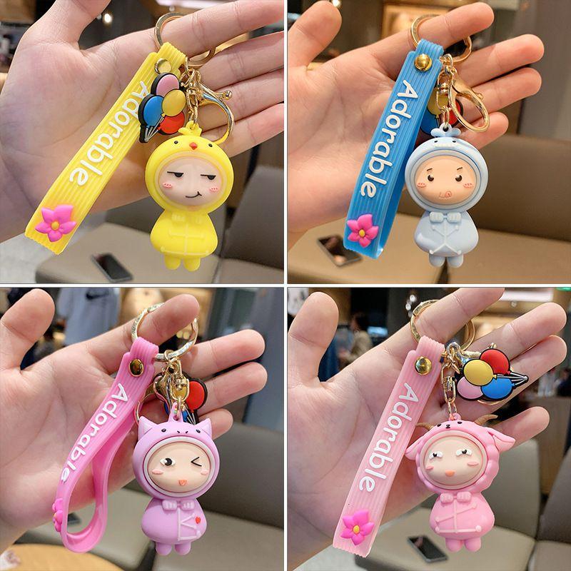 Cartoon doll car keychain cute pvc soft plastic pendant  NHCB267194