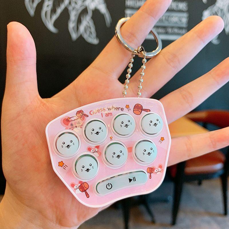 Handheld mini cute play hamster game console key chain  NHCB267195