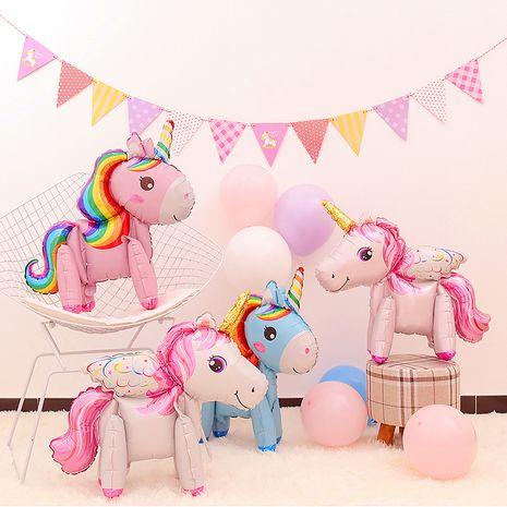 New three-dimensional rainbow horse  film balloon  NHAH267204's discount tags