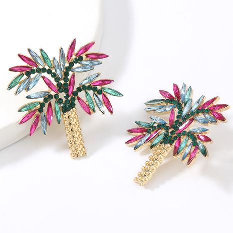 Fashion coconut tree alloy diamond acrylic super fairy beautiful earrings  NHJE267235's discount tags