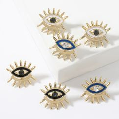 Fashion alloy dripping oil diamond acrylic eye women's earrings NHJE267238