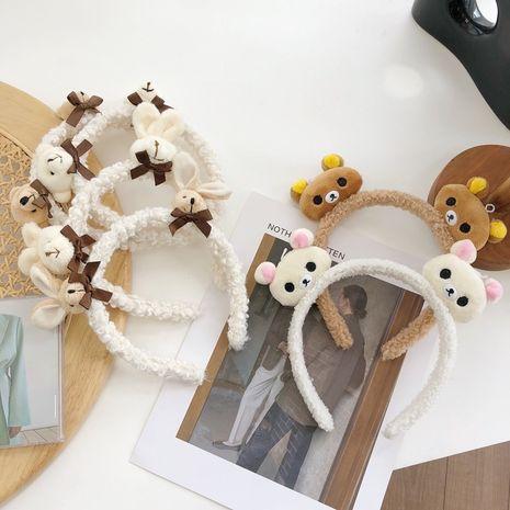 Bandeau coréen en bois de peluche ours mignon dessin animé NHSM267257's discount tags