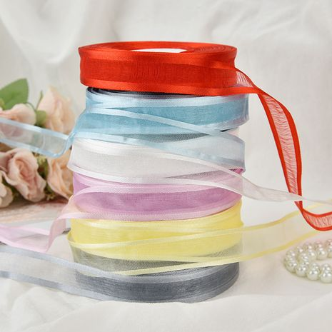 ribbon silk ribbon wedding decoration ribbon DIY handmade transparent wide-sided snow gauze belt NHDN267262's discount tags