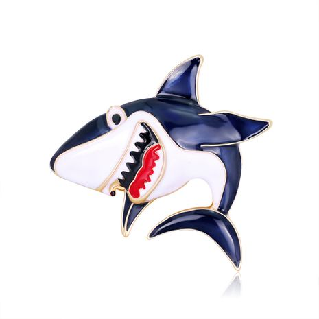 New  cartoon anime shark corsage wild alloy oil drop brooch  NHDR267269's discount tags
