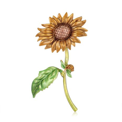 Creative painting oil sunflower brooch  NHDR267270's discount tags