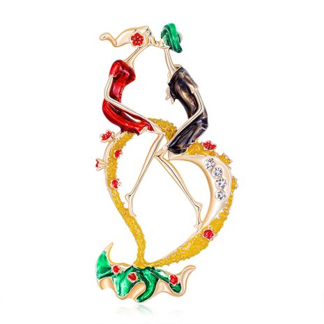 fashion   alloy diamond-studded oil drop brooch NHDR267272's discount tags