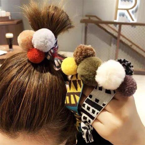 Koreanisches niedliches Plüschkugelbandkopfgummiband-Haarseil für Frauen NHSC267339's discount tags