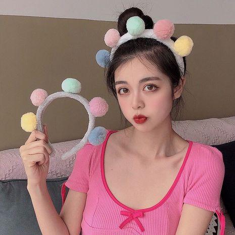 Koreanische neue Mode niedlichen All-Match super niedlichen Plüsch Ball Stirnband NHSC267337's discount tags